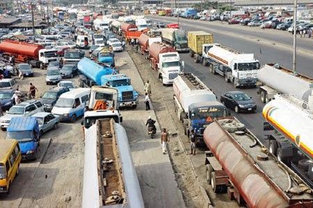 Gridlock along Apapa-Oshodi Expressway
