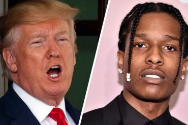 US President Donald Trump and A$AP Rocky