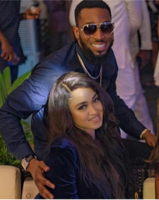 Dbanj and his wife, Lineo