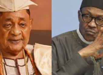 Oba Lamidi Adeyemi and President Buhari