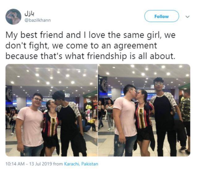 Besties share same girl