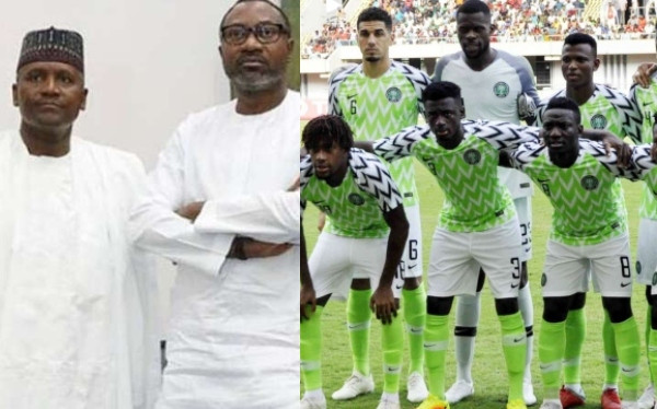 Dangote, Otedola and Super Eagles