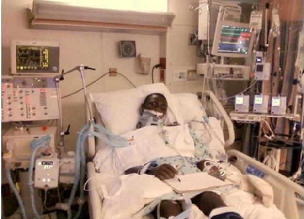 man in intesive care unit