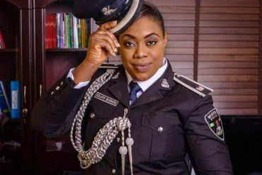 Celebrity Police Officer, Dolapo Badmus Welcomes Baby Girl (Photo)