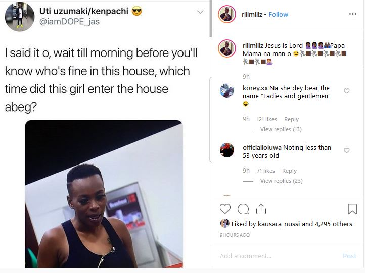 #BBNaija 2019: See How Nigerians Are Reacting After Seeing Isilomo Without Make up
