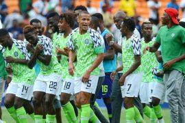 Super Eagles in celebration mood