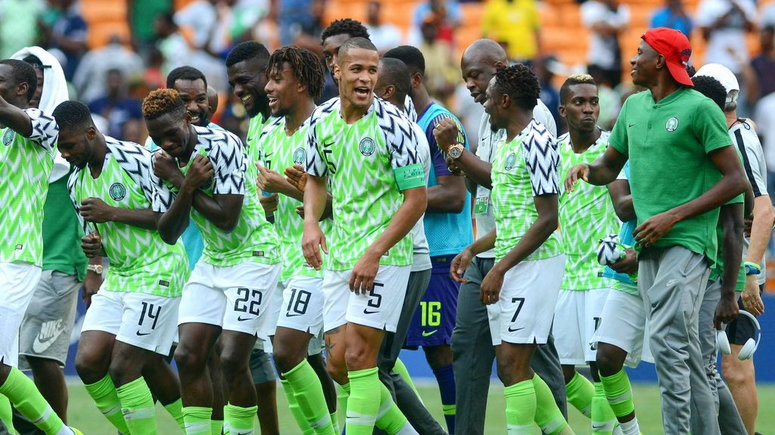 Super Eagles in celebration mood