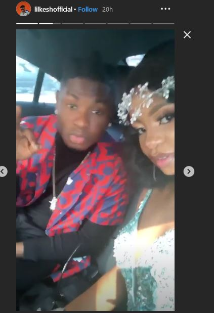 Lil-Kesh and Priscilla Ojo