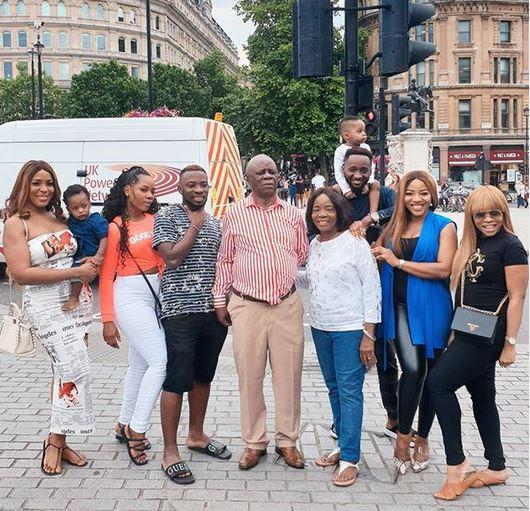 Linda Ikeji and her family