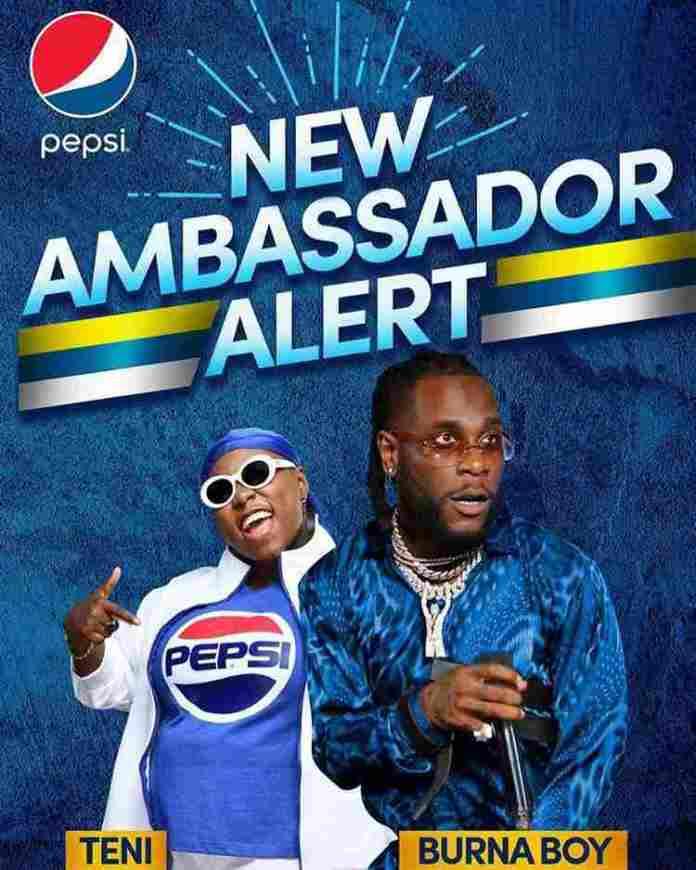 pepsi naija 20190701 0003 1 - Burna Boy And Teni Become New Pepsi Brand Ambassadors