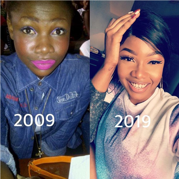 epic throwback picture of big brother housemate Tacha