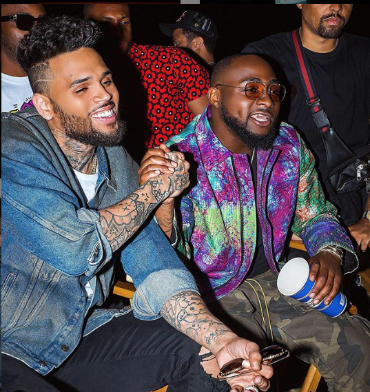 Chris Brown and Davido
