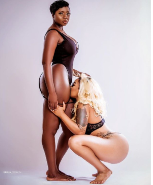 Toyin Lawani and Princess Shyngle