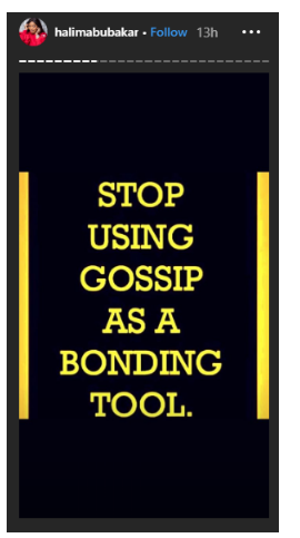 'Stop Using Gossip To Bond' — Halima Abubakar