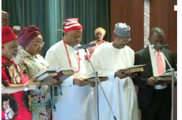 Buhari's Ministers Take Oath Of Allegiance (PHOTOS)