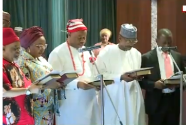 1 36 - Buhari's Ministers Take Oath Of Allegiance (PHOTOS)