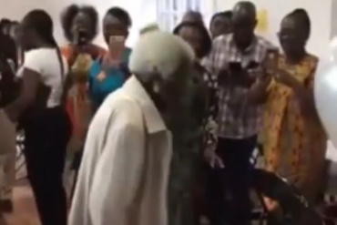 The 103-year-old woman dancing