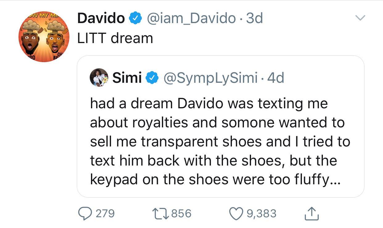 10041631 simi jpeg jpeg56986ee2551f05e126e2f5aa28baa260 - Davido Finally Responds To Simi's Dream About Him