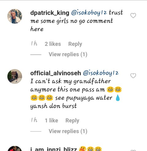 Isoko boy's comment section