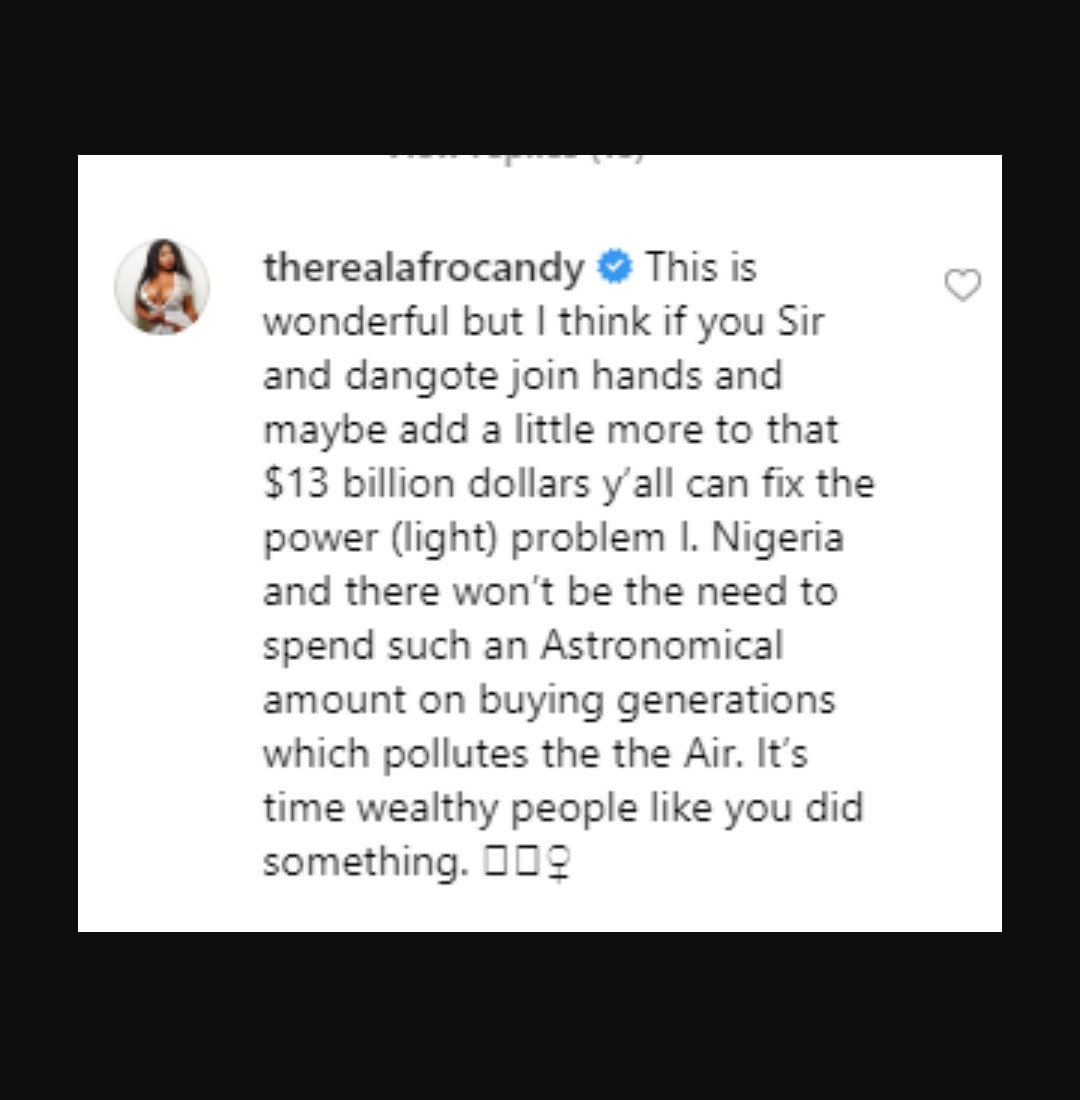 10096295 img20190824131212880 jpeg6be2d03fd3b59e877978f1403cb6ccfb - Porn Star, Afrocandy Tells Otedola, Dangote To Solve Nigeria's Power Problem