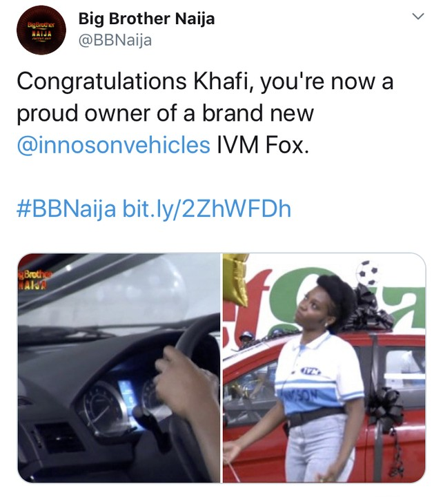 10097324 f4aa929665954c28b5f6872e318d4326 jpeg jpeg0de9fd206ae04efbfc3fc113bde1e0f2 - BBNaija: Khafi Wins N3.85M Car From Innoson Motors…Despite Several 'Knacks'