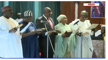 3 12 - Buhari's Ministers Take Oath Of Allegiance (PHOTOS)