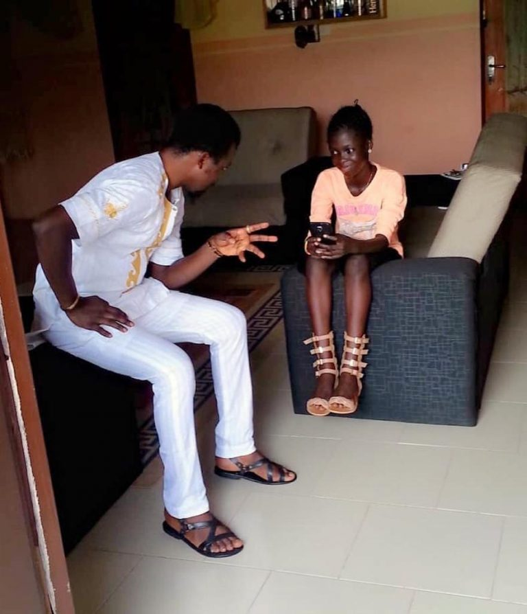 Kolawole Ajeyemi and his daughter, Temitope