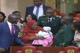 [Video]: Watch The mOment Lawmaker Is Kicked Out Of Parliament For Bringing Her Baby To The Chambers