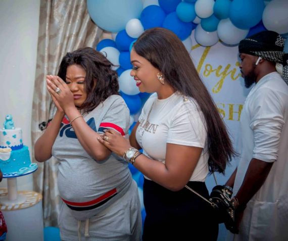 Osas Ighodaro, Bam Bam, Annie Idibia Spotted At Toyin Aimakhu's Baby Shower
