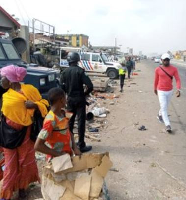 Photos From The Violent Clash Between Hausa And Yoruba Community In Lagos
