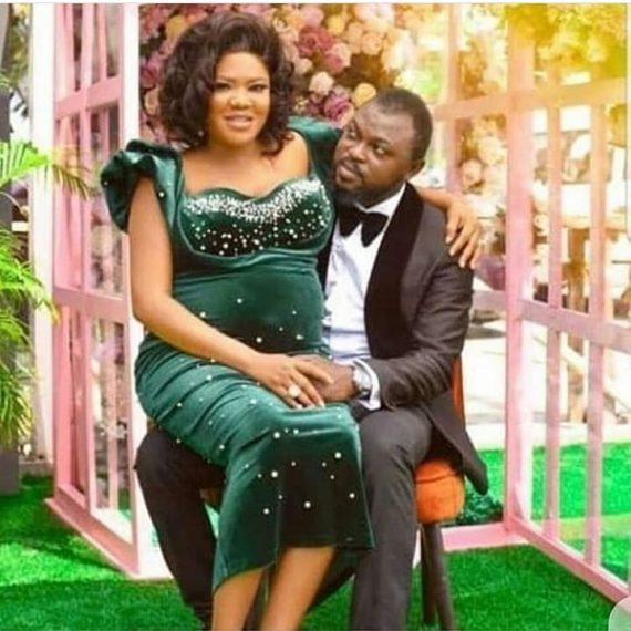 Toyin Abraham and her husband, Kolawole Ajeyemi