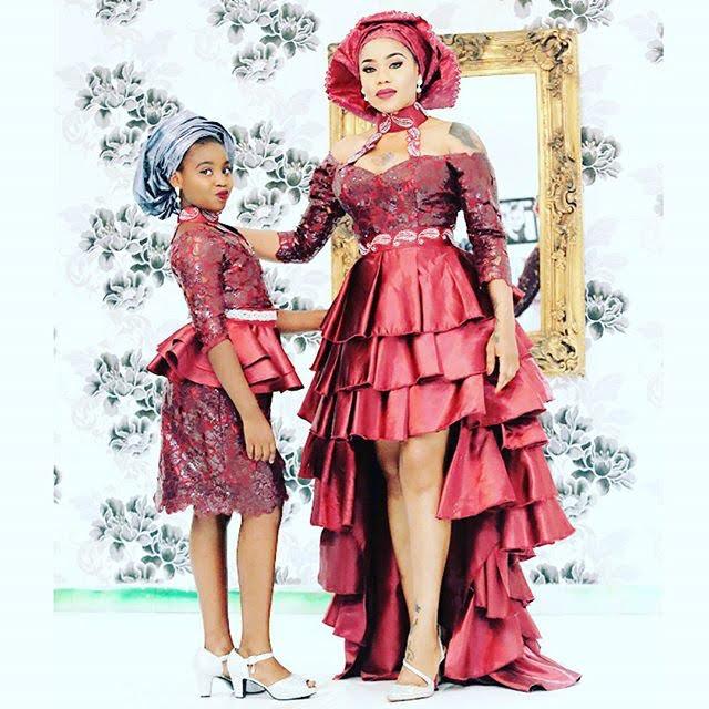 Toyin Lawani and her 14 year old, Tiannah
