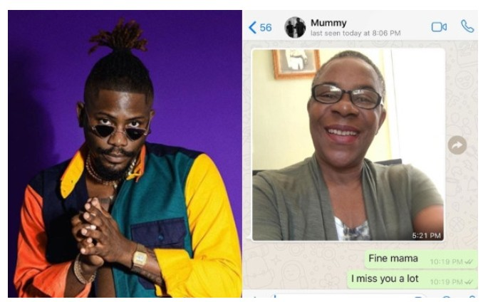 Ycee and his mom