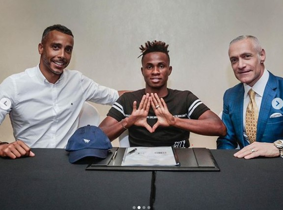Samuel Chukwueze and Roc Nation's management team