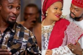 Niyi Johnson, Toyin Abraham and her husband, Kolawole Ajeyemi