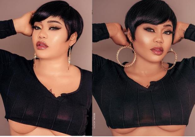 [Photos]: Toyin Lawani Flaunts Underboobs In New Sexy Photos