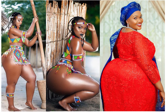 Tanzanian Curvy Model Sanchi Shows Off Her Even Curvier Mum