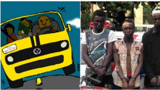 Commercial Bus and the Suspected Traffic Robbers