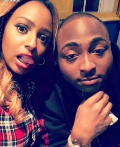 cuppy shared her and davido picture on ig