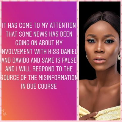 PhotoGrid 1566454483395 410x410 - Davido's Ex-Girlfriend Rumored To Be Pregnant For Kizz Daniel Debunks Report