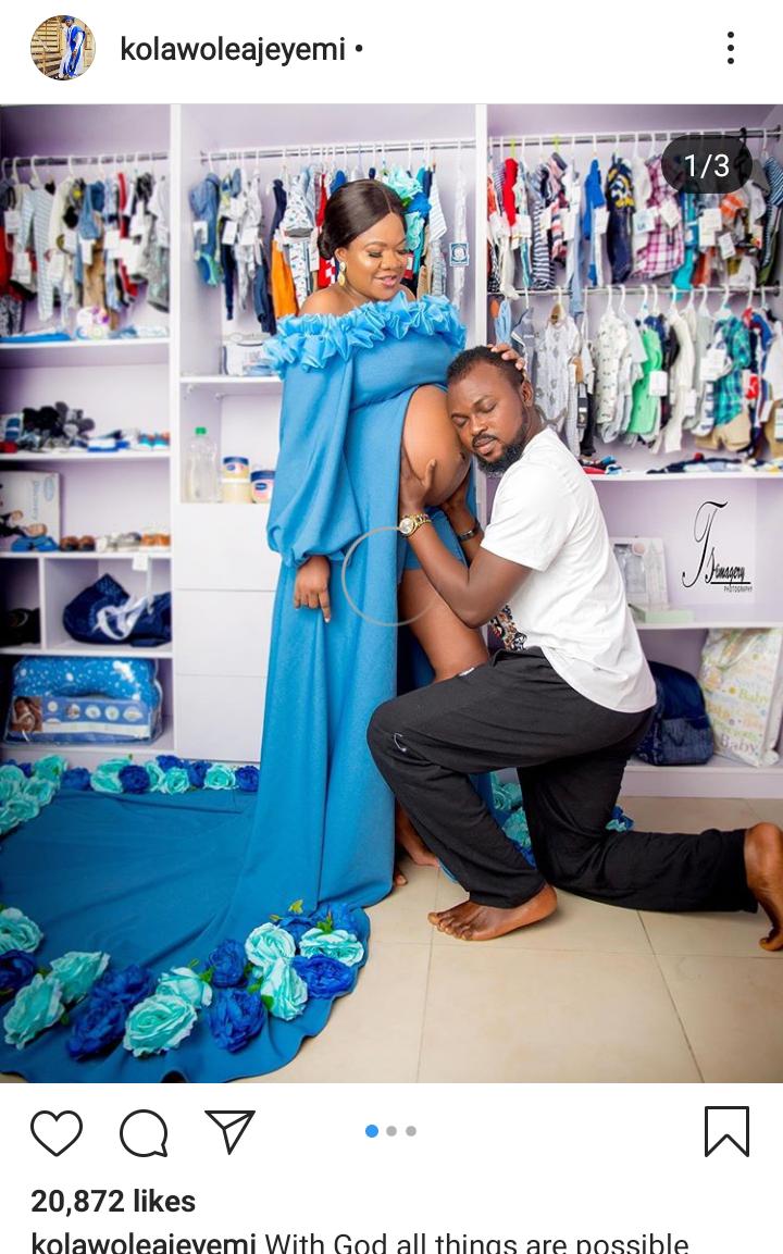 Screenshot 20190815 1417542 - Actor, Kolawole Ajeyemi Uploads Maternity Pictures Of Wife, Toyin Abraham