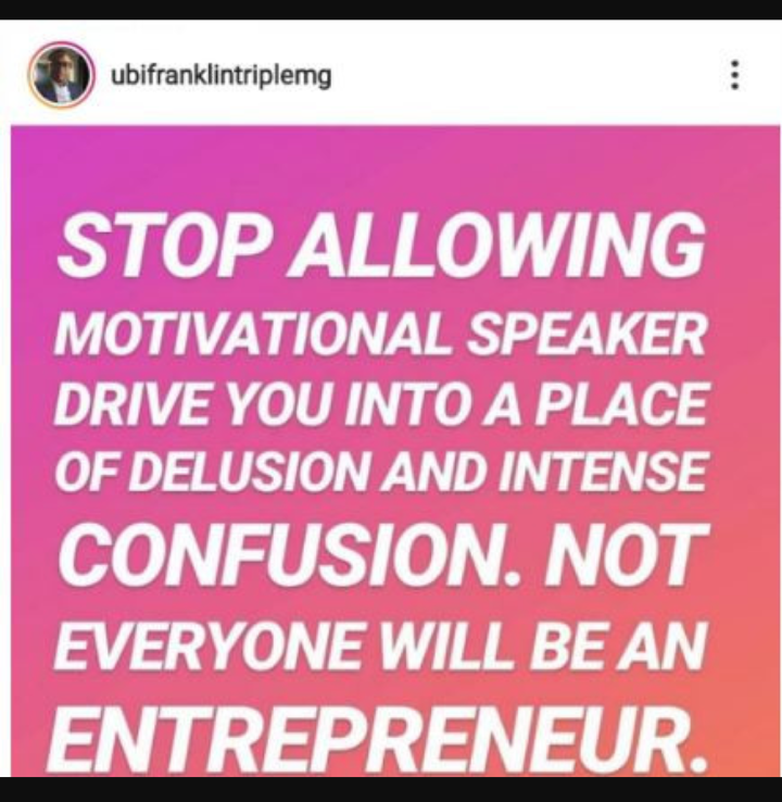 Screenshot 20190817 1243072 - Don't Let Motivational Speakers Lead You Into Trouble: Ubi Franklin