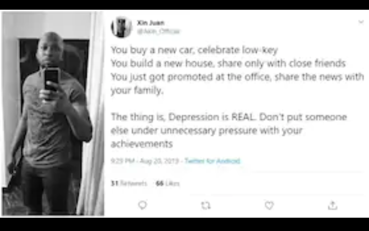 Screenshot 20190821 1314582 - Celebrating Achievement Online Pushes Many Into Depression: Twitter User