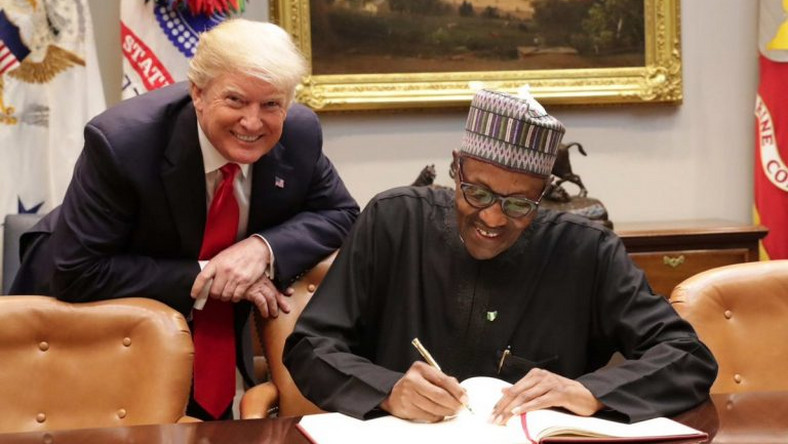 President Muhammadu Buhari and President Donald Trump at a bilateral meeting in the White House on Monday, April 30, 2018