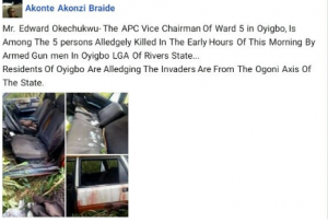 a 2 300x203 - APC Vice Chairman Killed By Gunmen In Rivers (Disturbing Image)
