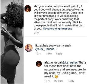 al - I Don't Need Butt Pad — Former BBNaija Housemate, Alex Unusual