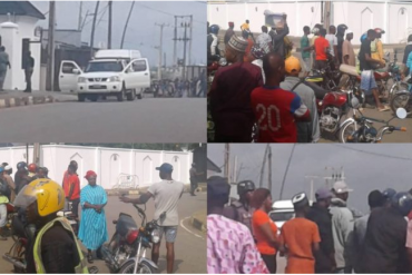 Youths In Epe Stand Their Ground Against EFCC Gaining Access To Ambode's Residence (Video)