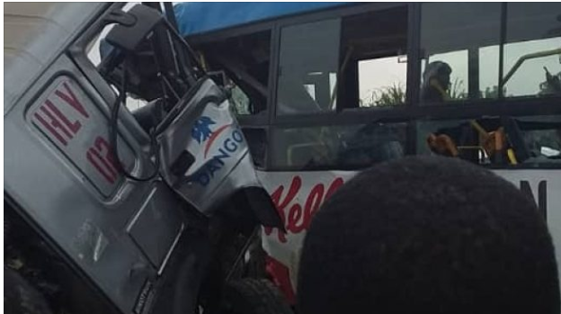 BRT collides with Dangote bus