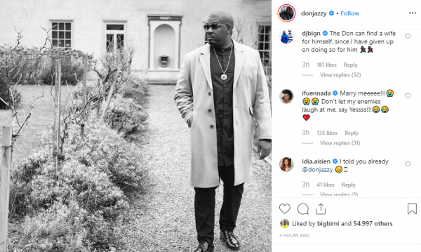 Ifuennada begs Don Jazzy for his hand in marriage