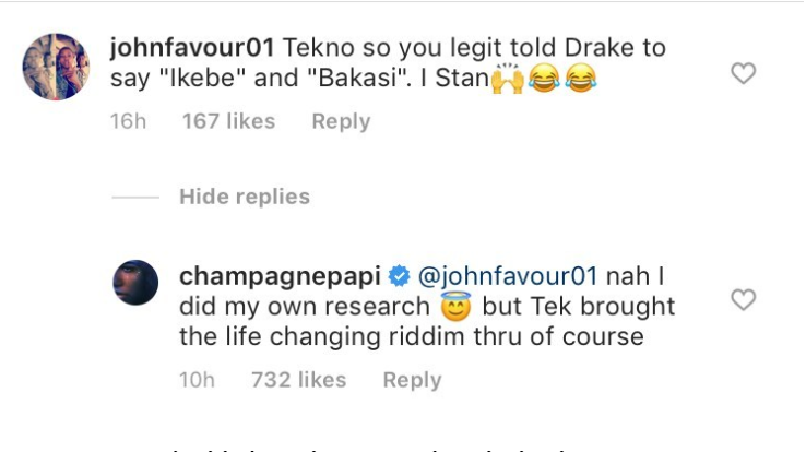 drake - Drakes Explains How He Learnt 'Ikede' From Tekno